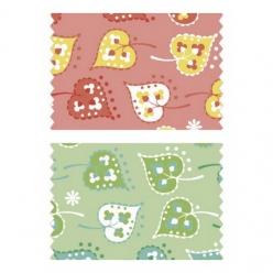 coupon de coton 50x65cm jeu de feuilles
