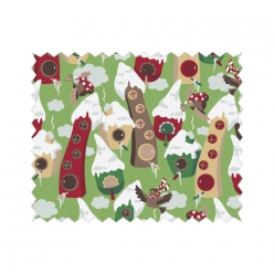 coupon de coton 50x65cm maisonnette d hiver