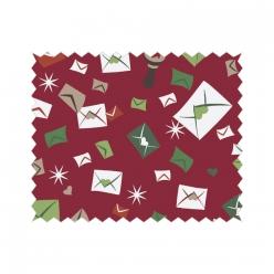 coupon de coton 50x65cm courrier de noel