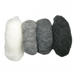 laine vierge mouchetee toison teintes grises