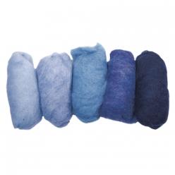 laine vierge mouchetee toison teintes bleues