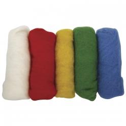 laine vierge 5 couleurs a 20g multicolore