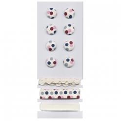 boutons et rubans points