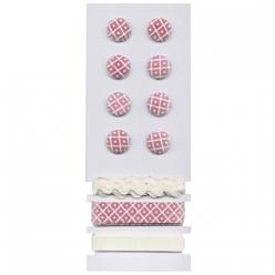 boutons et rubans losange sets de decoration