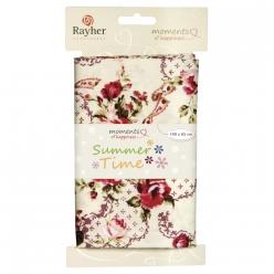 tissu en coton roses  bouquets