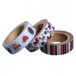 Set de 3 Washi Tape Kit Hiboux