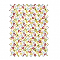 coupon de coton 100x65cm easy going  fleurs