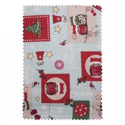coupon de tissu en coton magie d hiver  100x64cm
