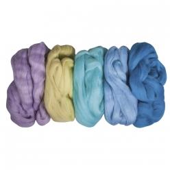 laine vierge cardee lot de coloris tendance