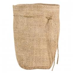 sac en jute avec fond rond 10cm o