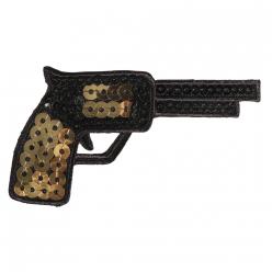 motif thermocollant cowboy gun