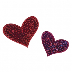 motif thermocollant hearts