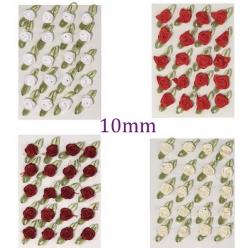 petites roses sur boucle 10 mm