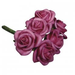 bouquet en mousse roses 3cm o x6