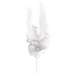 broche a fleurs en satin organdi et perles