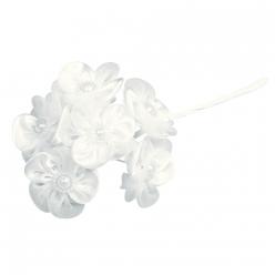 bouquet de fleurs en satin organdi avec perle