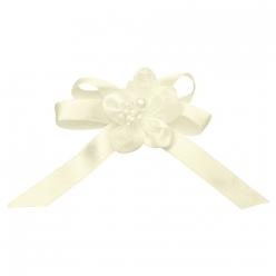 epinglette noeud avec fleur 6 cm