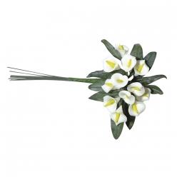 bouquet de calla en resine avec feuilles