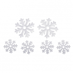 miniatures flocon de neige 4x32cm2x52cm