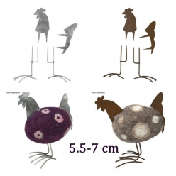 coq en metal petit pour feutrage 5 7 cm
