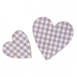 coeur en bois avec tissu 355 cm