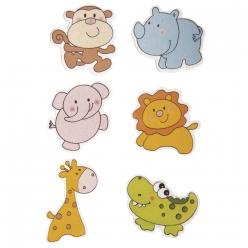 miniatures bois animaux avec point adhesif
