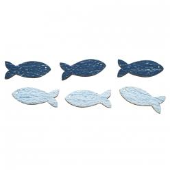 miniatures en bois poissons 35 cm 8 pc