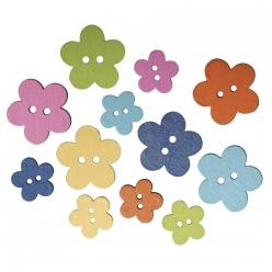 boutons bois fleurs 1522 cm
