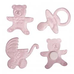 miniatures en satin tetine pousette nounours