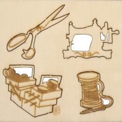 miniatures en bois coudre