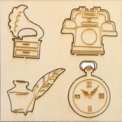 miniatures en bois objets vintage