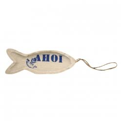 pendentifs en tissu poisson ohe 15x5cm