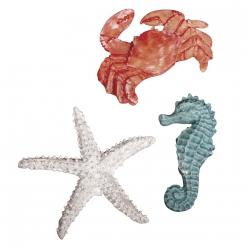 animaux de la mer en polyresine 4 6 cm