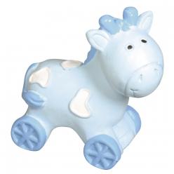 cheval en polyresine 45x45x2cm bleu