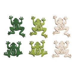 miniaten bois grenouilles o25cm 18 cm