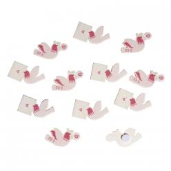 miniatures en bois pigeons voyageur 33 cm 12 pc