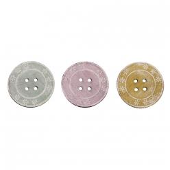 boutons en bois o45cm 6 pc