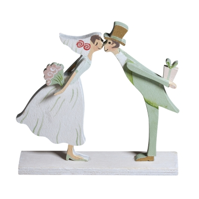 couple de maries en bois 9 cm