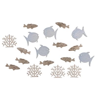 miniatures en bois poissons corail 2 cm