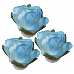 fleursenpapier15mmturquoise