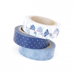 Masking tape Kit Fille flocons de neige 15 mm