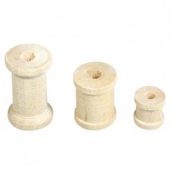 bobines en bois claires 24 pc 3 tailles