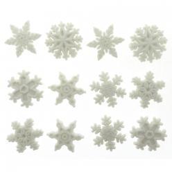 boutons  flocons de neige scintillants