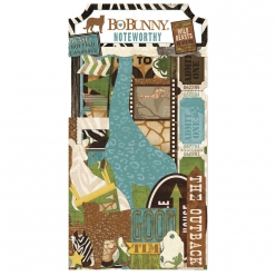 assortiment decors papiers safari 45 pieces