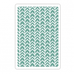 Embossing folder Sizzix chevron
