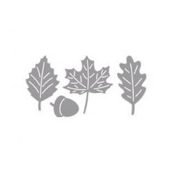 pochoir avec embossage feuilles