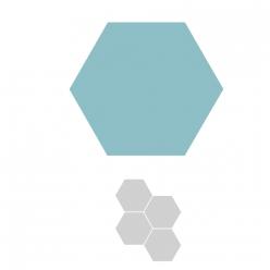 sizzix bigz hexagons 1  cote fini 254 cm