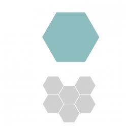 sizzix bigz hexagons 34 cote 195 cm