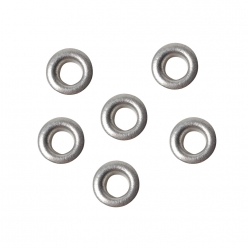 Oeillets ronds argent 3/16 (4.8 mm) -50pcs