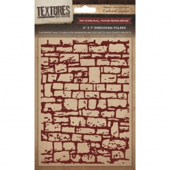 Embossing Folder  - Dry Stone Wall, mur en pierre